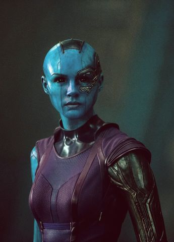 new picture of Karen Gillian, Nebula Guardians of the Galaxy I like the outfit and the implants.