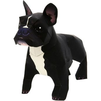 French Bulldog,Animals,Paper Craft,Mammals ,Animals,dog,Paper Craft,Pet series,dog,easy,easy