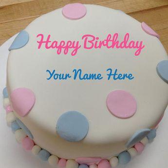 Write Name on Pretty Birthday Violet Fl