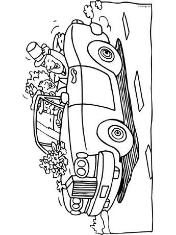 Hochzeitsauto Cabrio Malvorlage