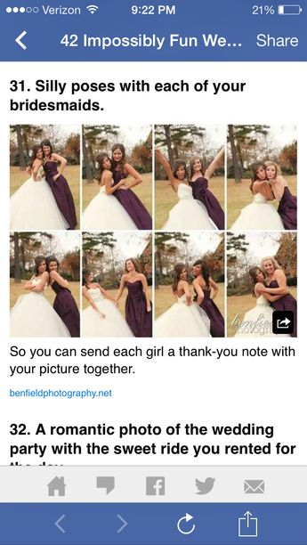 Pictures with all the bridesmaids individually