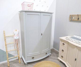 Kledingkast Licht Grijs : Stoere kledingkast voor de babykamer in legergroen met le