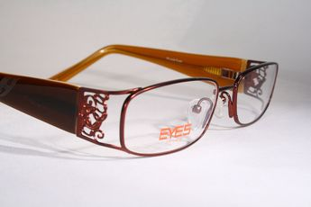 d5f0676f7126 New PRIVATE EYES Women s Ornate Copper Orange Brown Eyeglass Frames  Eyeglasses