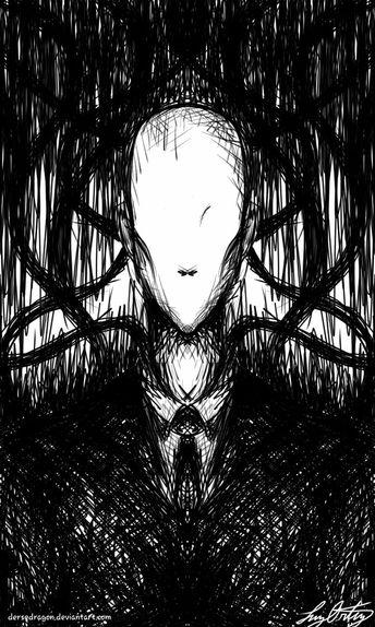 Day 8 ~ crooked ~ #inktober #inktober2017 #slenderman #tal