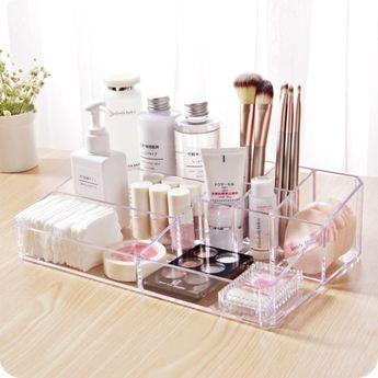 Cute Acrylic Makeup Organizer