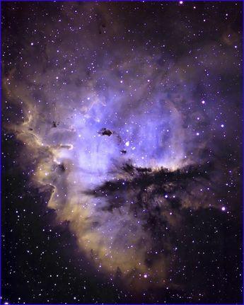 WoW ~Gods Majestic Splendor~ ...God of wonders beyond our Galaxy.. you are sooo holy!  <3 Narrow Band Pacman Nebula