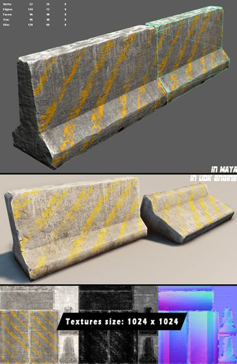 PBR Industrial Pipes Large  3D model and object for city mo