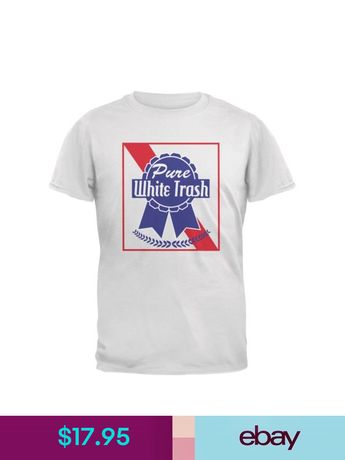 bc80379fbc Pure White Trash White Adult T-Shirt Christmas gift store