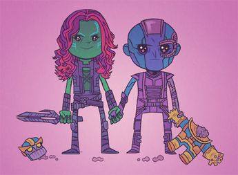 Thanos-Gamora/Nebula Fathers, be good to your daughters.