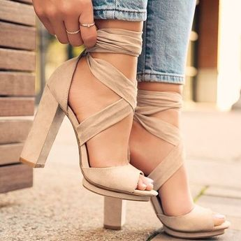 Bandage Women Shoes Casual Sexy Lace Up Party Shoes High Heel Sandals G5482 from Eoooh❣❣