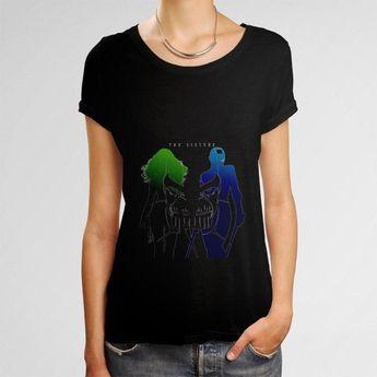 The Sister Marvel Galaxy Of The Guardians 2 Gamora Nebula Women T-Shirt