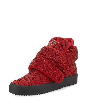 2a20382d29a4e Giuseppe Zanotti Men's Crystal-Studded High-Top Sneaker, ...