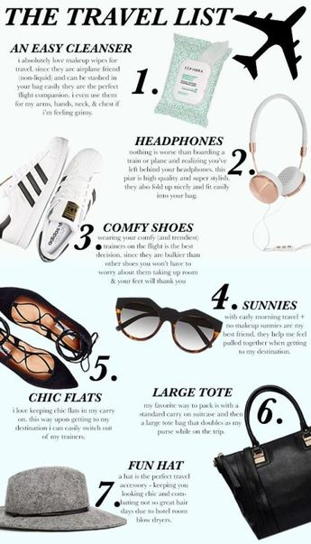 fashion travel essentials list
