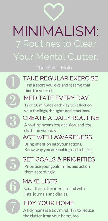 7 Routines to Clear Your Mental Clutter