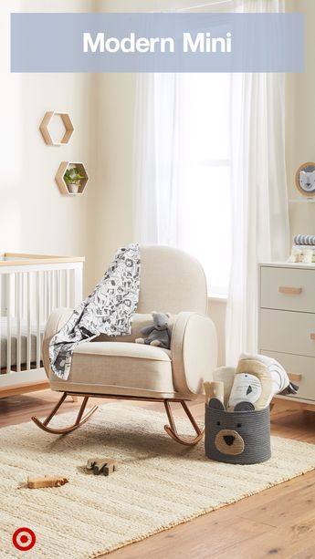 If your personal style is modern, create a nursery that fits seamlessly into your home with sleek, contemporary furniture and decor in a muted color palette.
