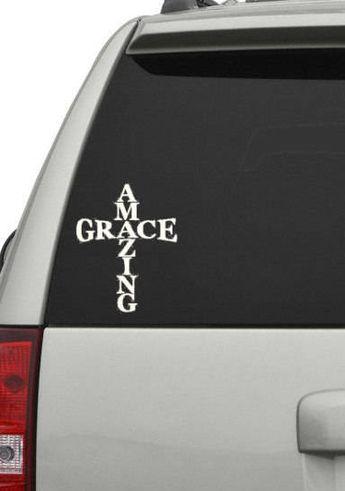 AMAZING GRACE Vinyl Decal Sticker Car Window Wall Bumper Love Quote Home Decor
