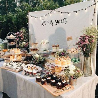 34 Awesome Wedding Dessert Table Décor Ideas