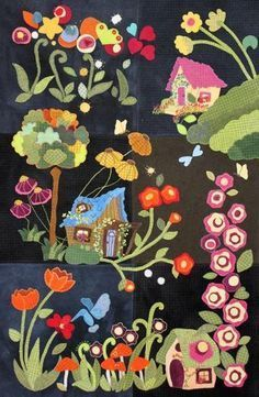 My Blue Heaven Wool Applique
