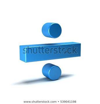 Divide Math Symbol. 3D Rendering Illustration  #3d #divide #icon #math #school #college #3d