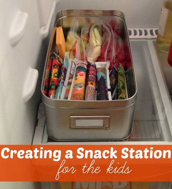 Creating Snack Stations For Kids- in the fridge & in the pantry!