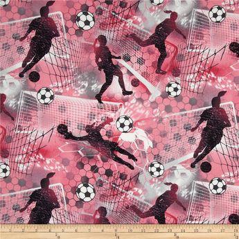 Sports Soccer Girl Soccer Pink & Fuschia