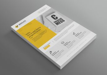 Uranus Modern Professional Corporate Flyer Template - Graphic Templates
