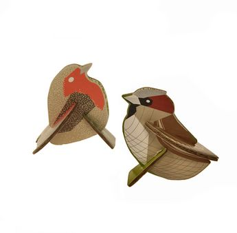 Sparrow & Robbin Pop-out Card