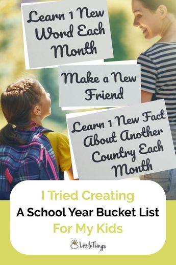 I Tried Creating A School Year Bucket List For My Kids