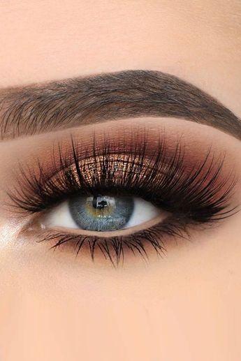 Idées de maquillage pour les yeux bleus ❤ Voir aussi: www.weddingforwar ... #weddingforward #b ...  #aussi #bleus #idees #maquillage #weddingforwar #weddingforward