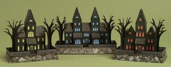 PAPERMAU: Halloween Special - Miniature Haunted Houses Paper Models - Set 2by Ravensblight