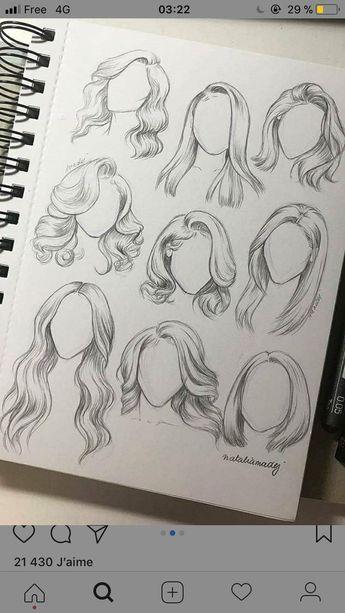 draw different hairstyles # hairstyles #various # draw suheda,  verschiedene Frisuren zeichnen  #diyhairstyles #draw #easyhairstyle #hairstyles #suheda #trendhairstyle