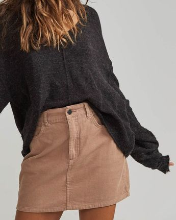 Dem Bones Cord Skirt