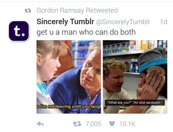 Gordon Ramsay retweeted this and I can't fucking deal with it