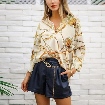 Vintage gold chain printed nine-point sleeve shirt  Limited Time Discount!! 📣📣📣 💞5% OFF Over $69 (Code: 5OFF) 💞 #love#instagood#photooftheday#fashion #beautiful#happy#cute#tbt#like4like#followme #picoftheday#follow#me#selfie#summer#art #instadaily#friends#repost#nature#girl#fun #style#smile#food#instalike#family#travel #likeforlike#fitness #goldjewelry,goldchainsmen,goldchains,fakegoldchains