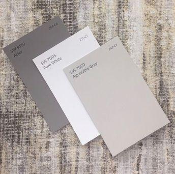 Sherwin Williams   Acier - Pure White - Agreeable Gray