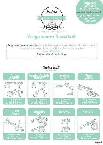 Programme spécial swiss ball