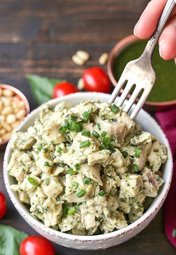 Paleo Whole30 Pesto Chicken Salad - Real Food with Jessica