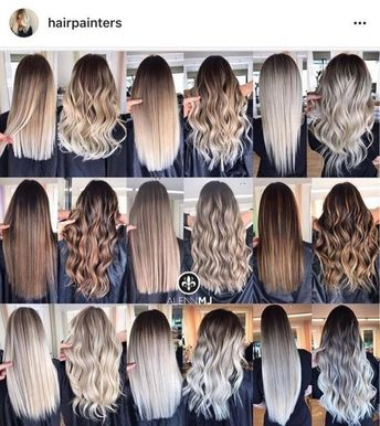 40 hair color trends in 2019 before & after highlights on hair tips page 56
