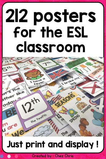 ESL Classroom Posters / Grammar - Phonetics - Culture - Vocabulary