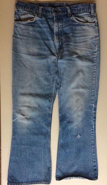 07a96eb8 Details about Levi's Men's 646 Blue Jeans 35W X 28L Zipper 42 Talon Flare  Bottoms Orange