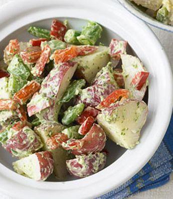 Green Goddess Potato Salad with Sugar Snap Peas