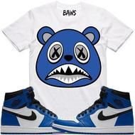 c13bd8d3649 ROYAL BAWS White Sneaker Tees Shirt - Jordan 1 High OG Royal - 3X-Large