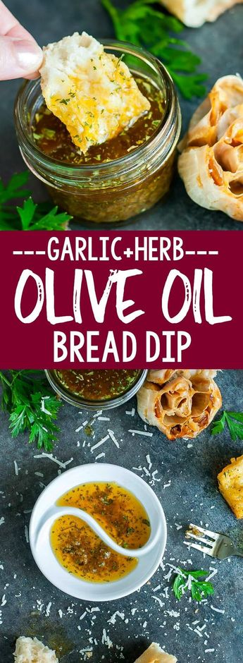 Restaurant-Style Olive Oil and Herb Bread Dip