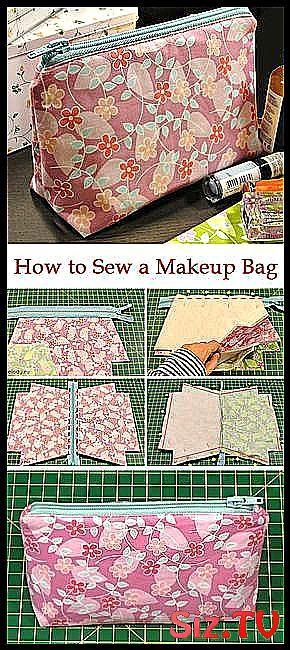 How to Sew a Makeup Bag How to Sew a Makeup Bag ~ DIY Tutorial Ideas!,  #Bag #DIY #DIYBag #Ideas #Makeup #sew #Tutorial
