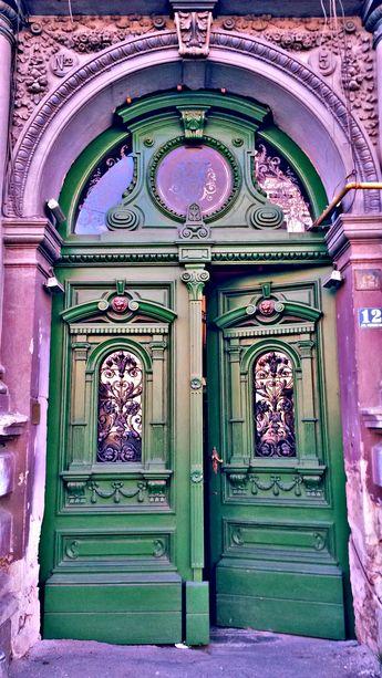 Door in Timisoara, Romania
