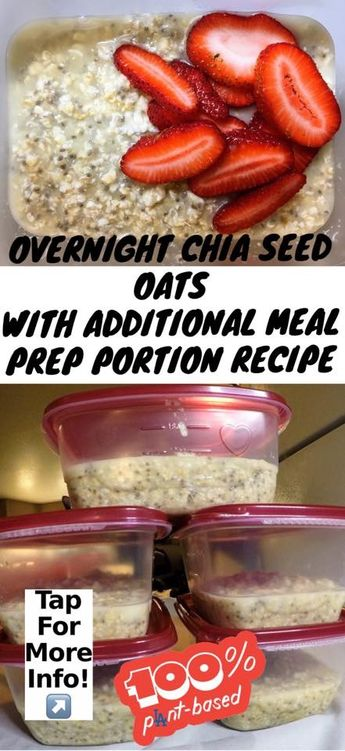 recipe overnight chia seed oats plant based diet vegan recipes. Easy ingredients healthy cheap protein