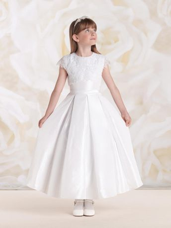 0ec69fcffe Sophisticated First Communion Dress - Long Sleeve Beaded La