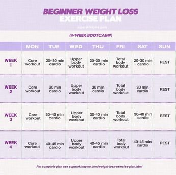 Beginner Weight Loss Exercise Plan ~ Website has Intermediate & Advanced workouts too.