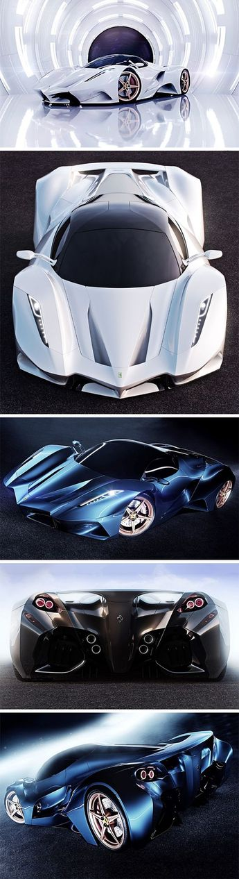 The only thing Ferrari about this concept car is the logo on the front and back! Designer Ivan Venkov decided to reimagine Ferrari as a completely new company, fully putting Ferrari's and Pininfarina's 60 year design language aside to develop something mo