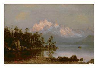 Mountain CanoeingBy Albert Bierstadt